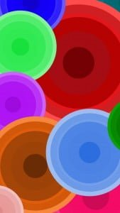 iPhone 5 Wallpaper Colorful Circles 4