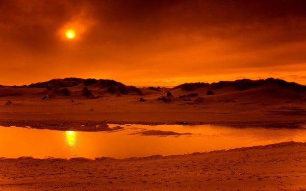 Çöl gün batımı