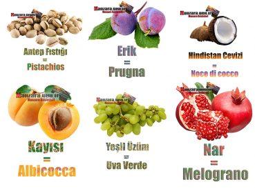 İtalyanca Meyve İsimleri