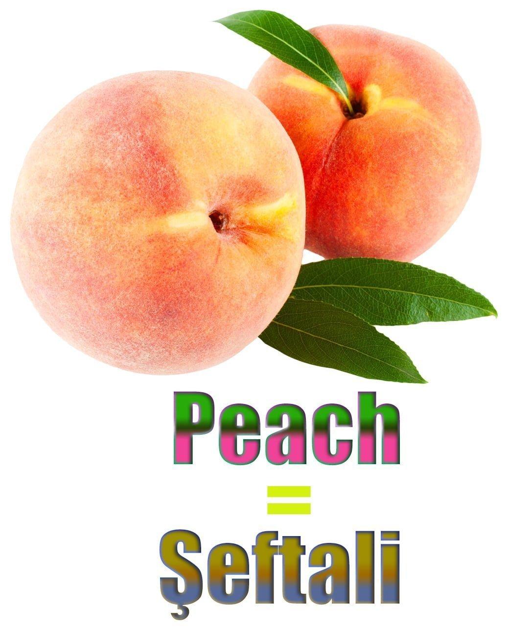 Şeftalinin İngilizcesi (Peach)