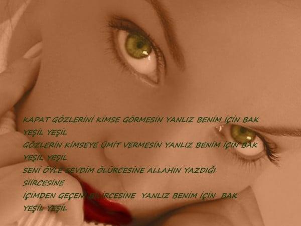 şiirli yeşil göz