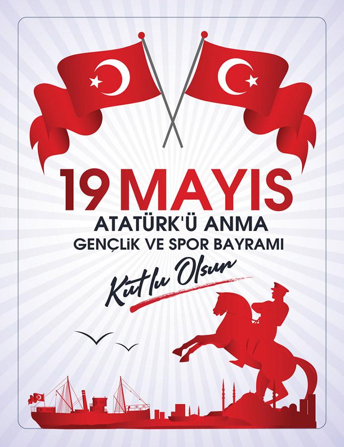 19 Mayıs Atatürk`ü Anma Gençlik ve Spor Bayramı Kutlama Mesajları