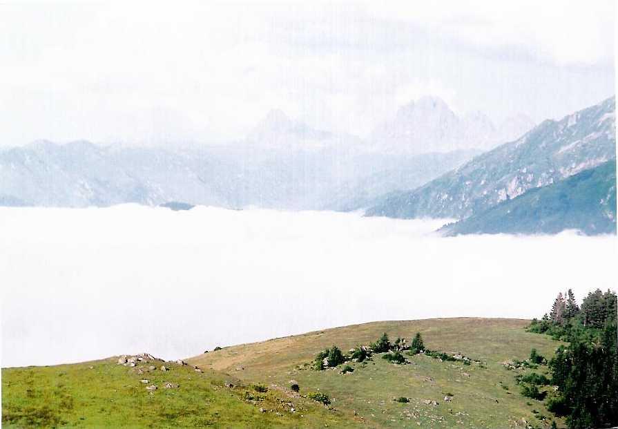 Bulutlu Kaçkar Dağları