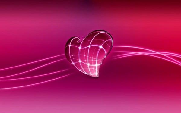 3 D Aşk kalbi