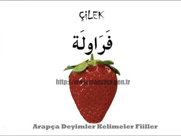 Arapça çilek yazısı ve resmi