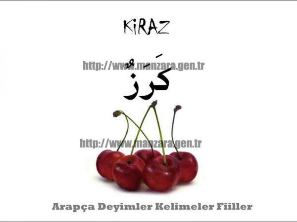 Arapça kiraz yazısı ve resmi