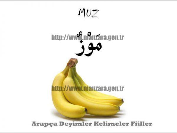 Arapça muz yazısı ve resmi