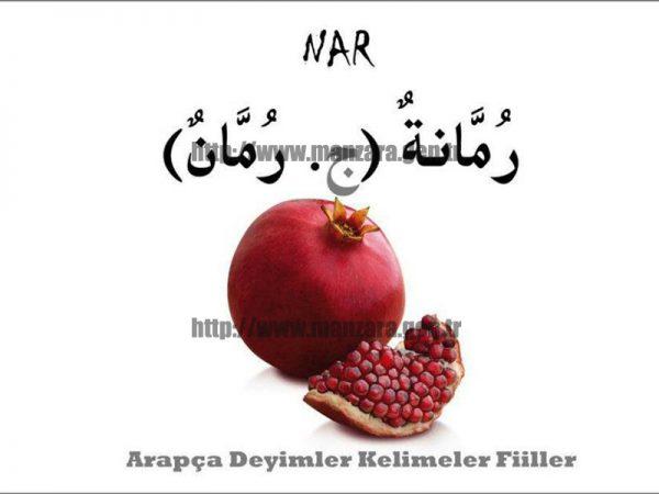 Arapça nar yazısı ve resmi