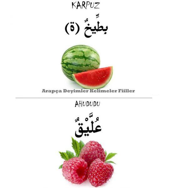 Arapça meyve isimleri ve resimleri