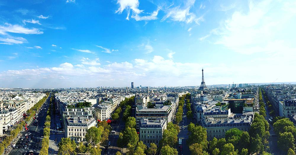 Arc de Triomphenden Paris Manzarası