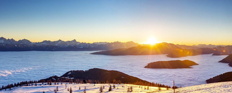 Avusturya Alpleri Gün Batımı Manzarası