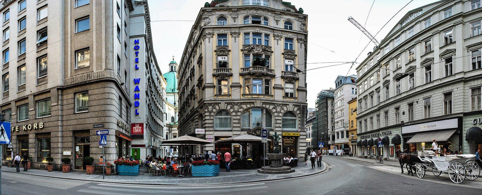 Avusturya Viyana'dan sokak manzarası