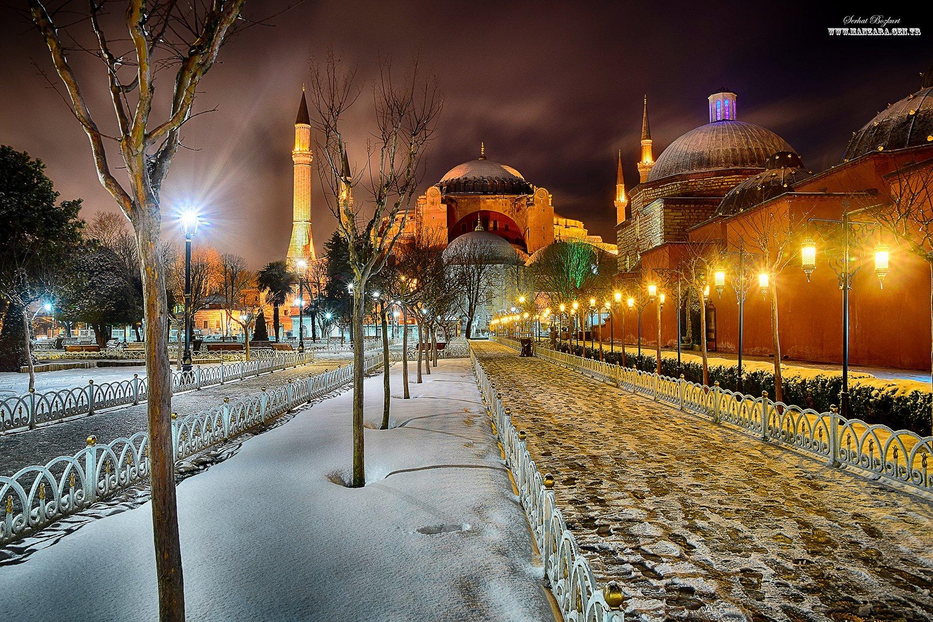 Ayasofya kar manzarası