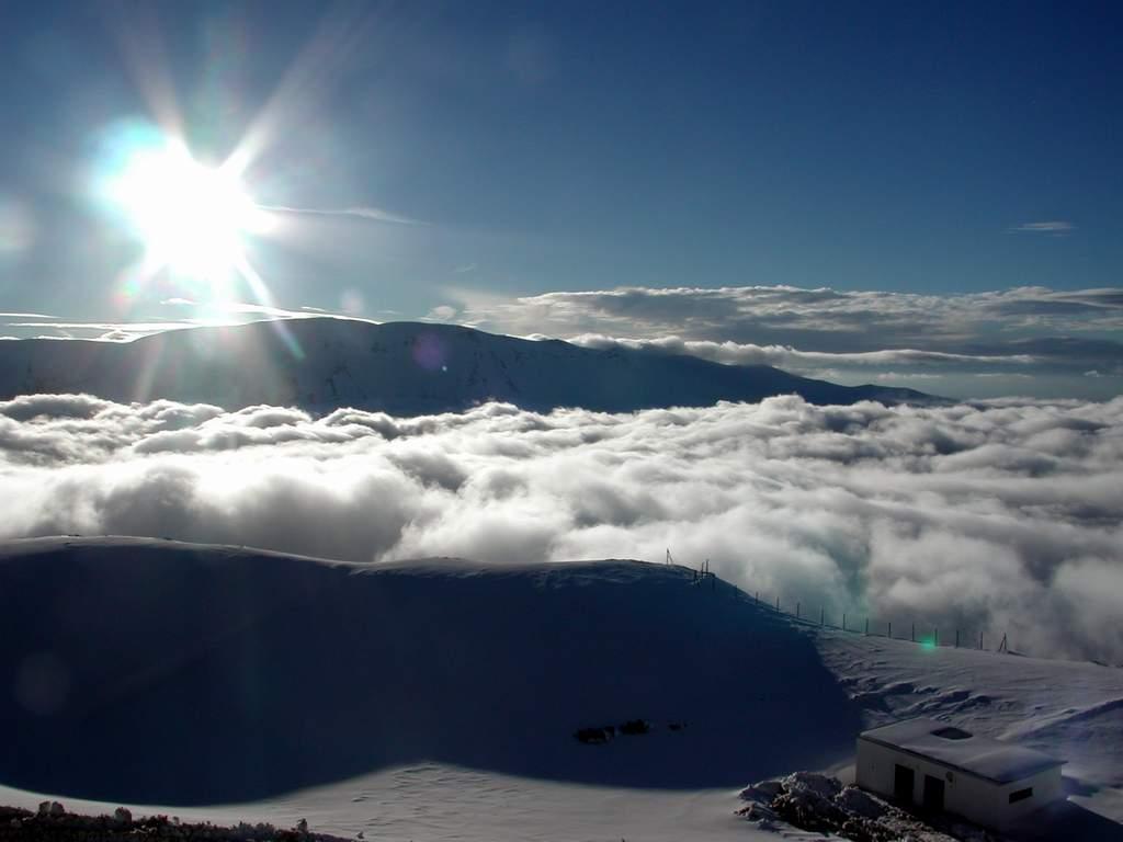 Bulutların karlar içinde seyri