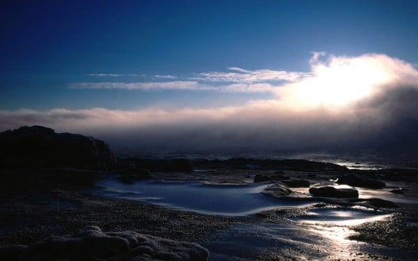 Bulutlu Deniz Gün Batımı