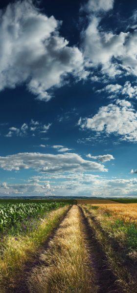 Bulutlu Doğa Manzarası Note 20 Resim