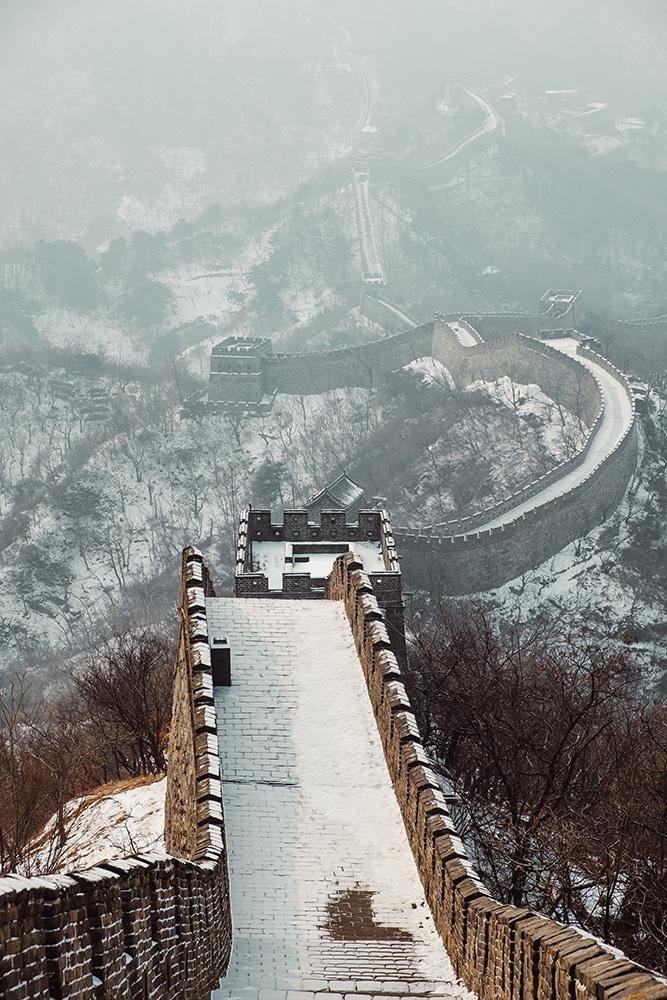 Çin Seddi Kar Manzarası