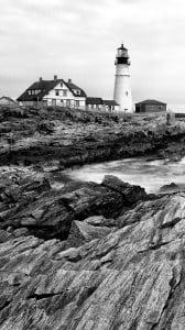 Deniz Feneri Siyah Beyaz iPhone 6