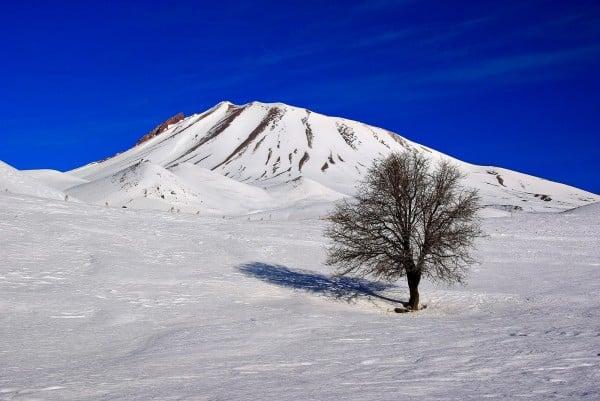 Erciyes Dağı kar