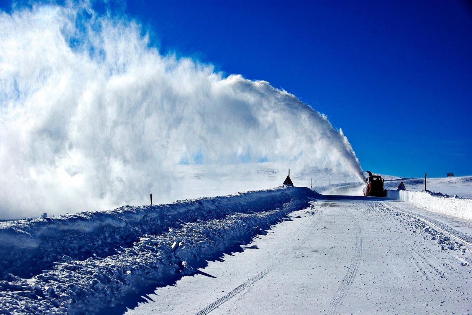 Erciyes kar manzarası