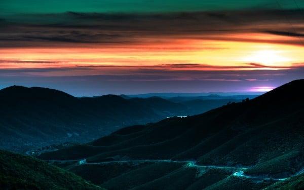 Gün batımı yolu