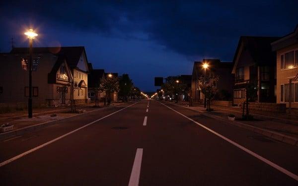 Gece yol manzara duvar kağıdı