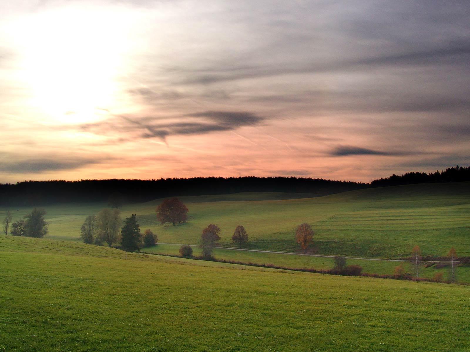 Almanya'da gün batımı