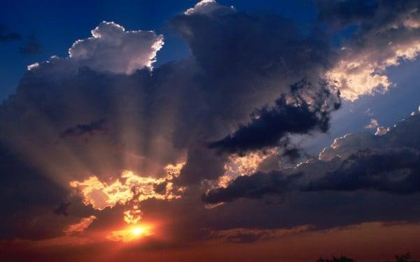 Harika bulutlu manzara