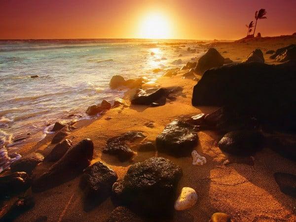 Hawaii Gün Batımı Manzarası