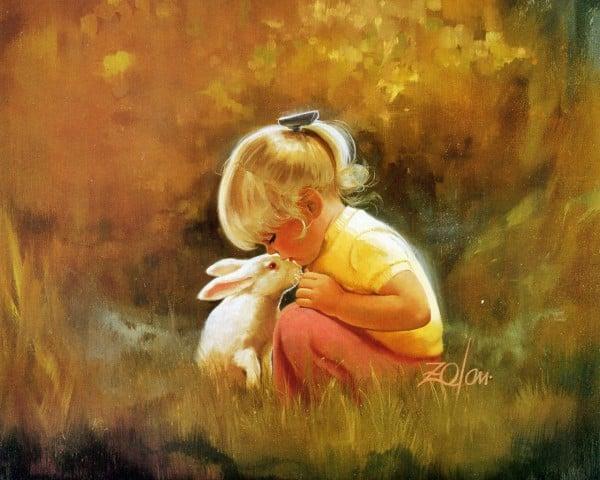 Küçük Kızın Hayvan Sevgisi