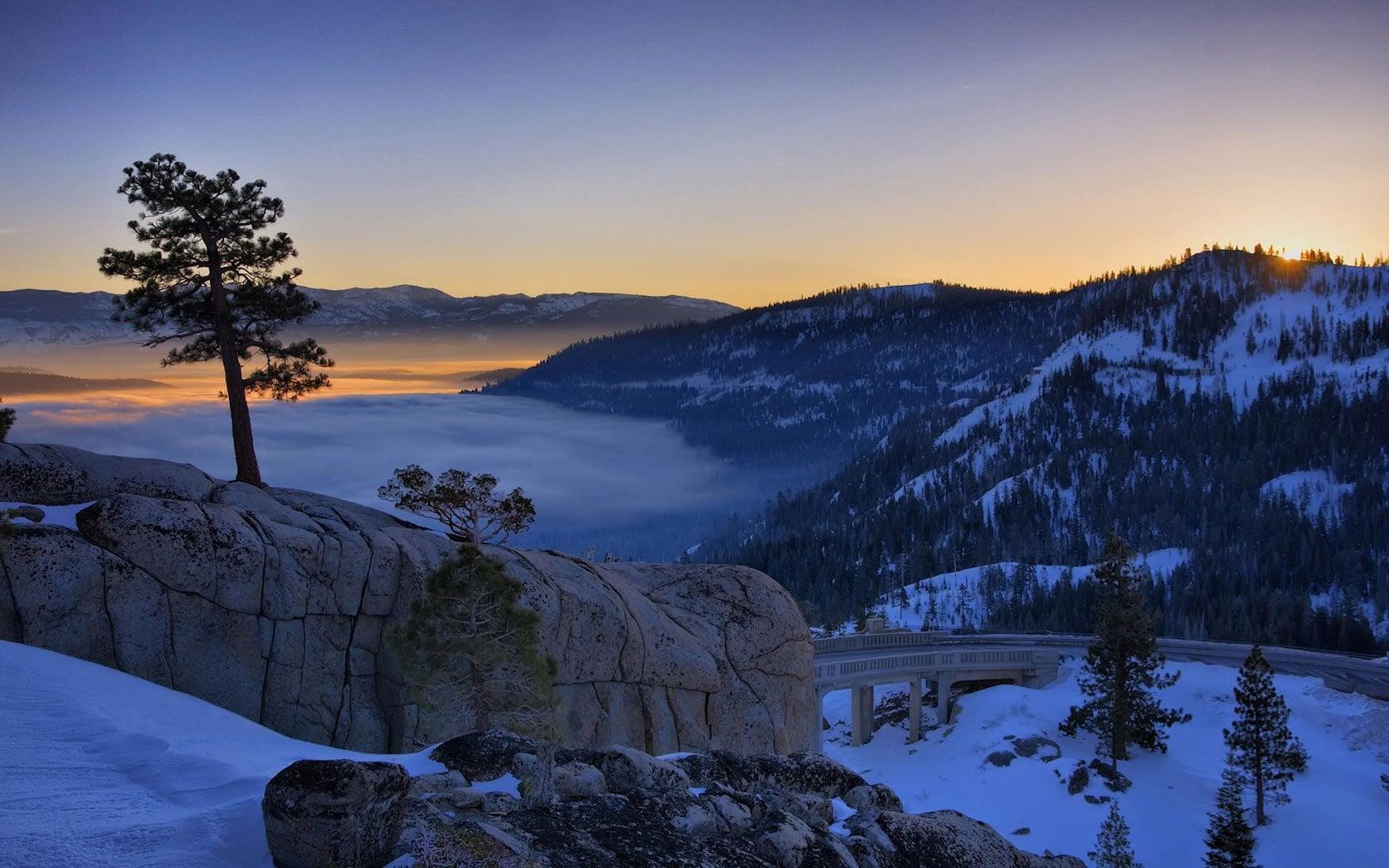 Kış Dağ Manzarası