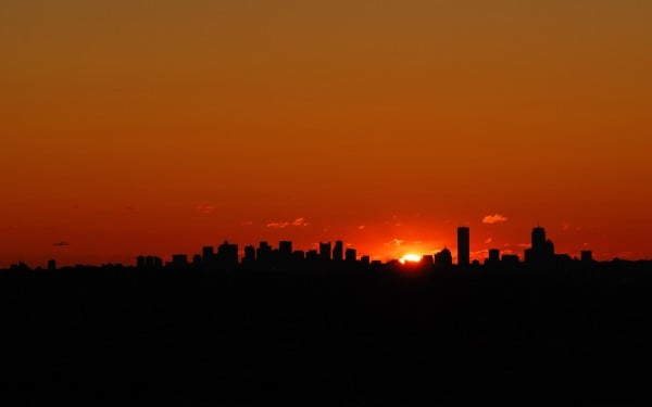 Kızıl şehir batımı