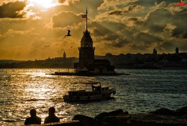 Kız Kulesi gün batımı