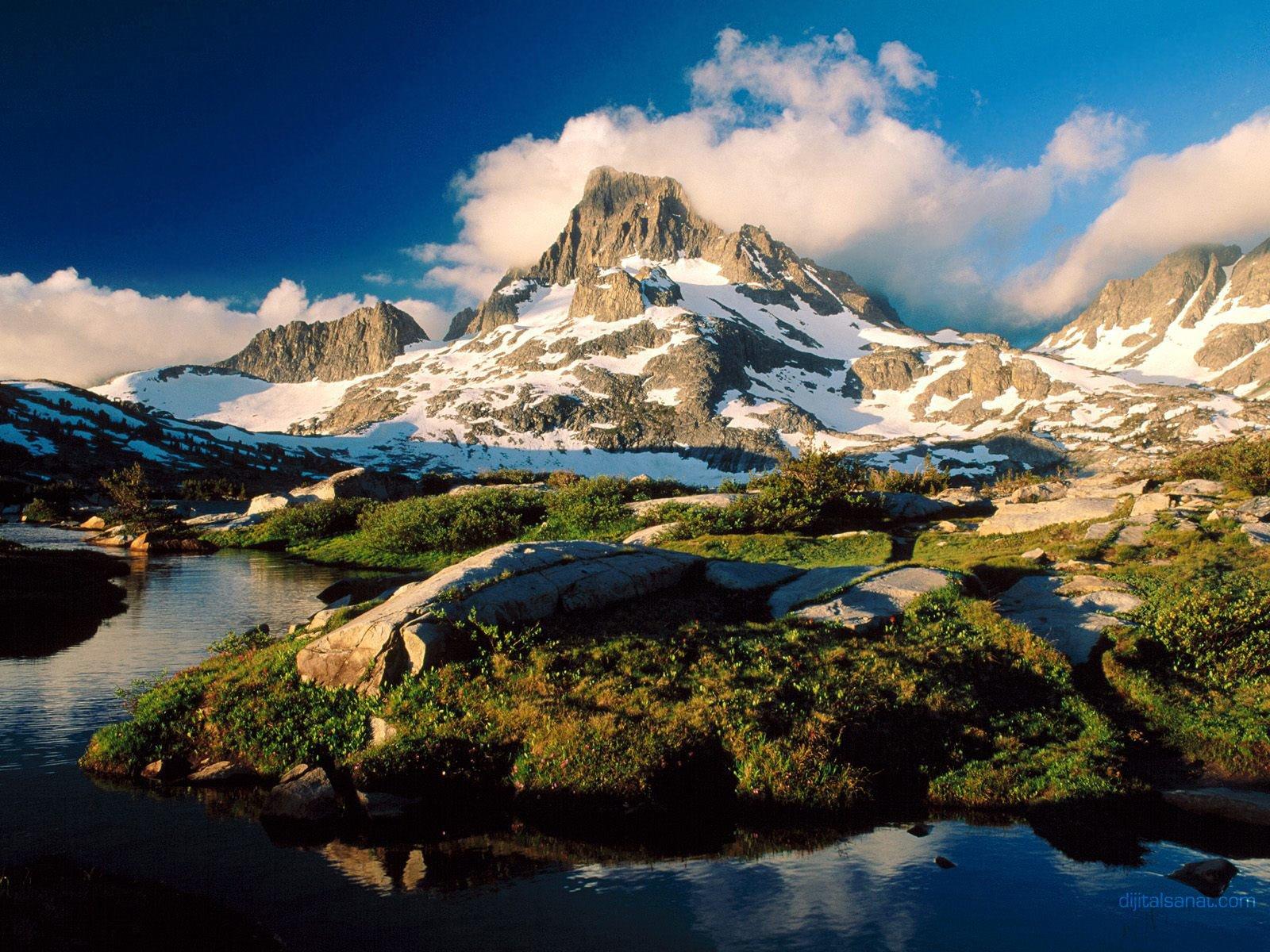 Karlı Dağ Görüntüsü
