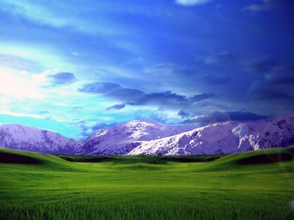 Karlı Dağlarda Gün Batımı