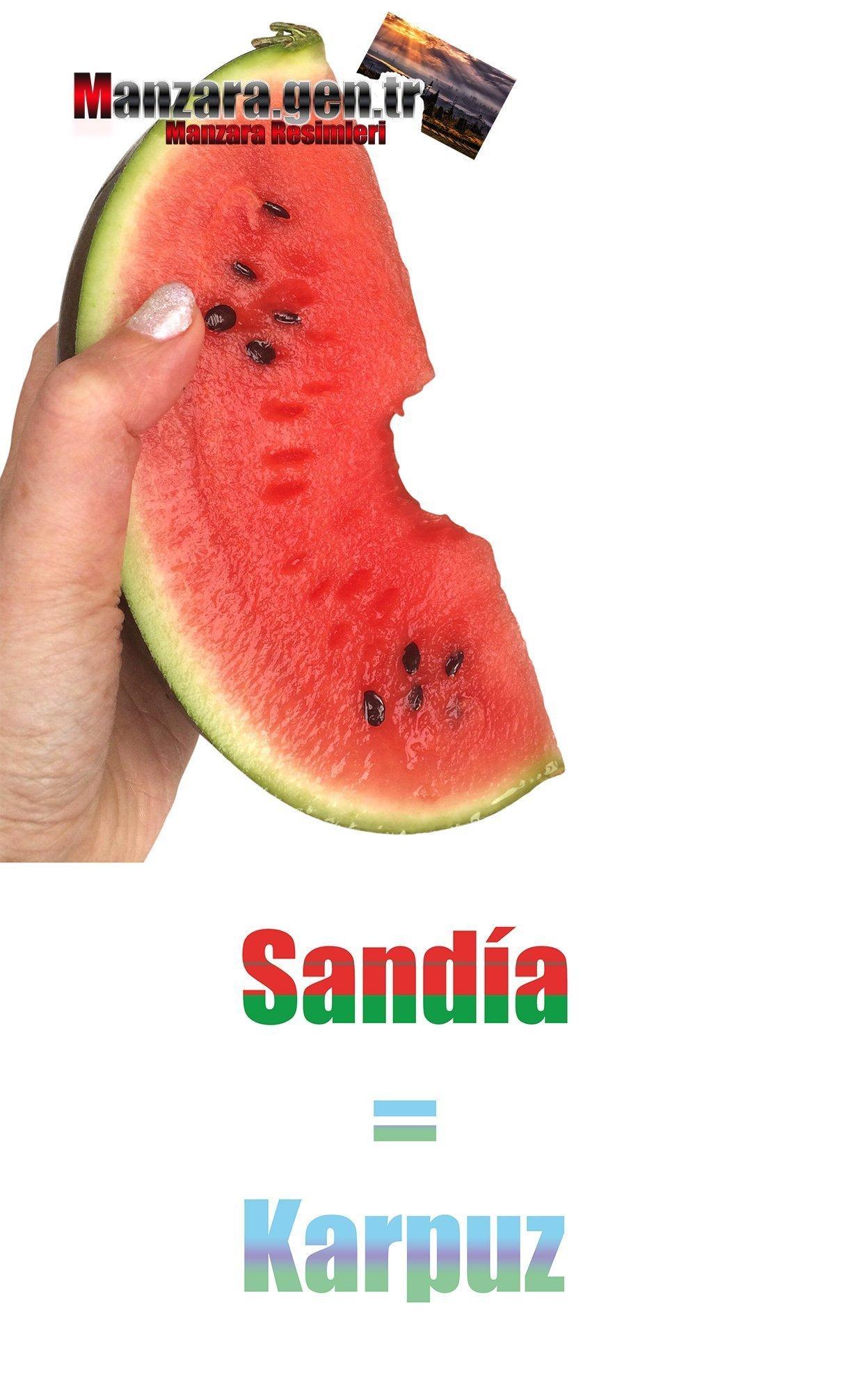 İspanyolca Meyve İsimleri - Karpuzun İspanyolcası (Sandía)