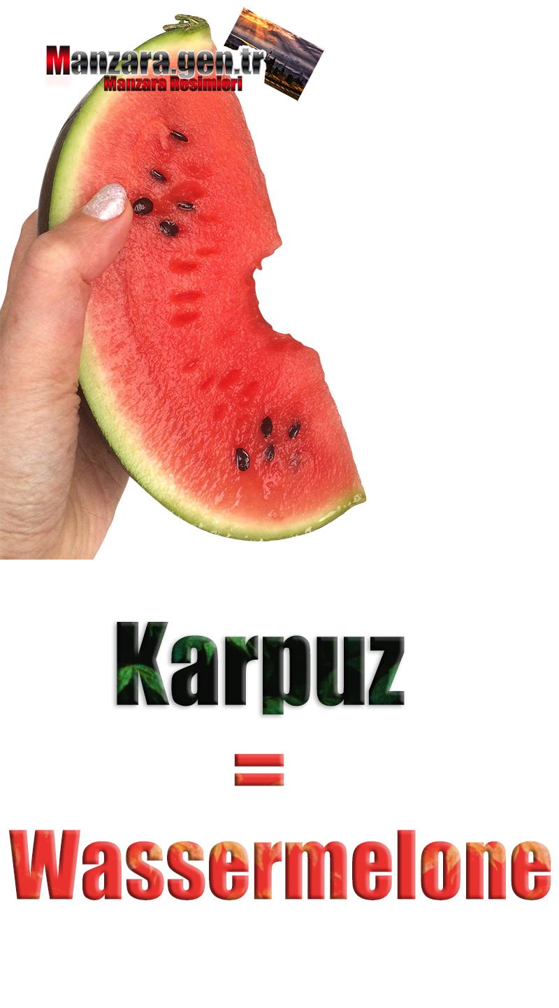 Karpuzun Almancası Nedir ? Karpuz Almanca Nasıl Yazılır ? Was ist Wassermelone Türkisch? Wie schreibe ich Wassermelone auf Türkisch?
