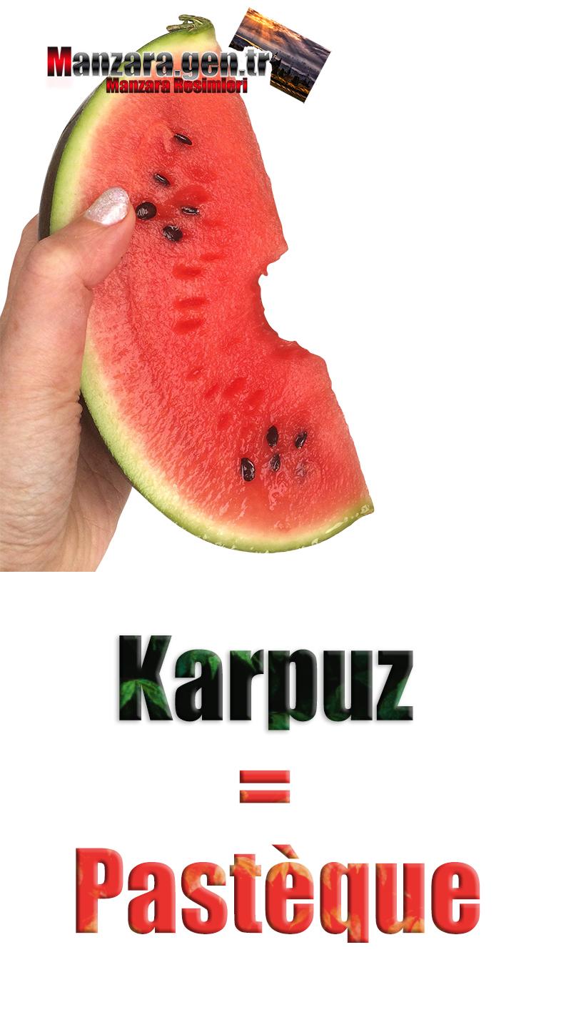 Karpuzun Fransızcası Nedir ? Karpuz Fransızca Nasıl Yazılır ? Quel est le turc de pastèque ? Comment écrire la pastèque en turc?