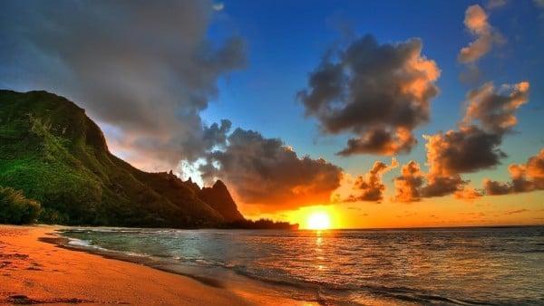 Kauai Adası Gün Batımı