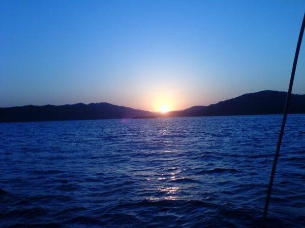 Mavimsi gün batımı