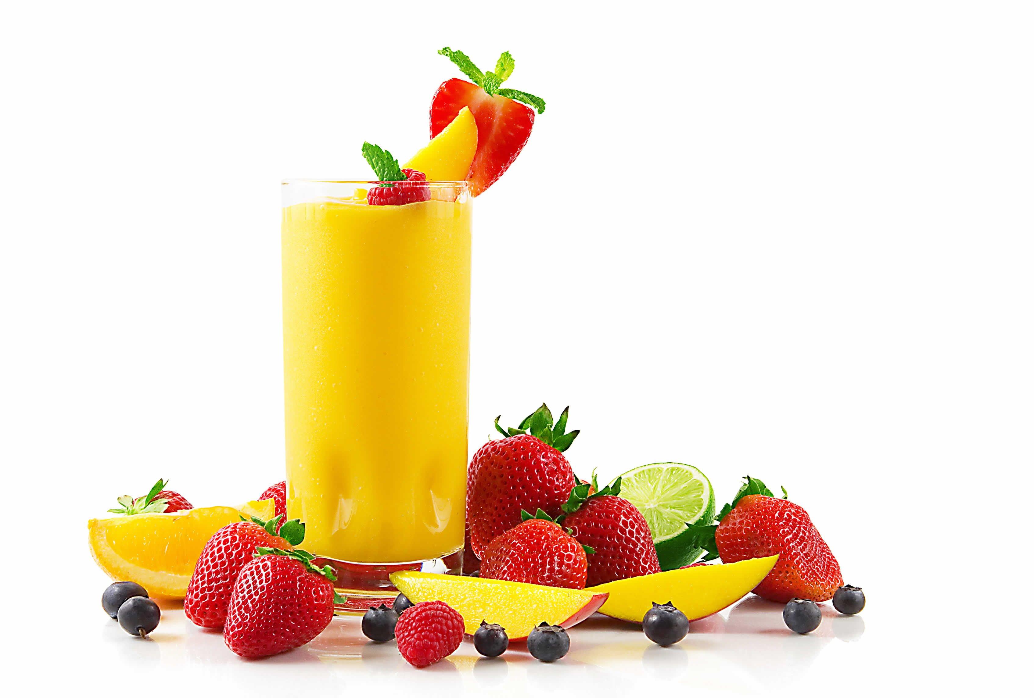 Meyve Suyu ve Çilekler