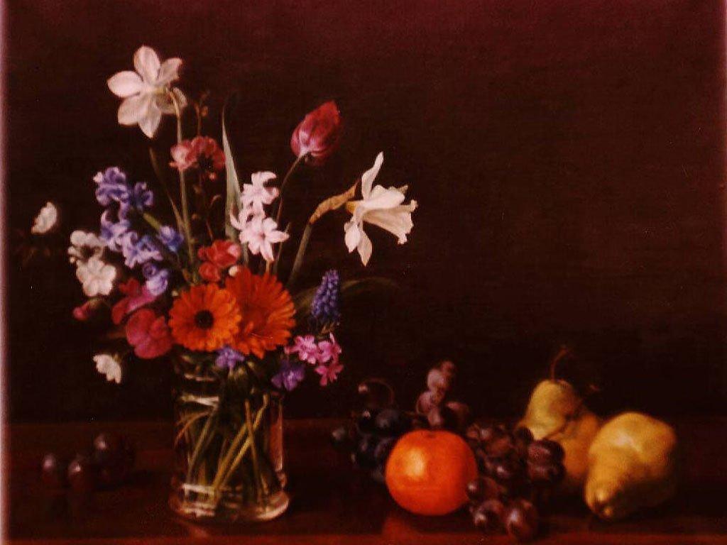 Çiçekler ve Meyve Natürmort