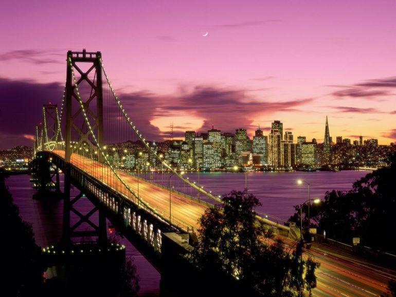 Oakland Körfez Köprüsü Manzaraları