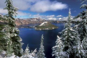 Oregon'daki krater gölü