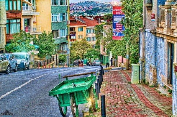 Ortaköy'de bir sokak
