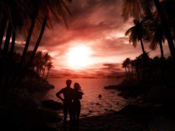 Romantik gün batımı