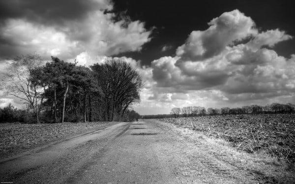 Siyah beyaz süper yol
