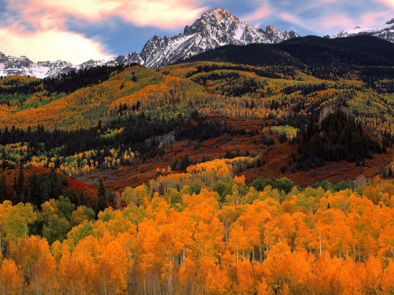 Sonbahardan Güzel Manzaralar - Sonbaharın Kızıllığı ve Dağlar