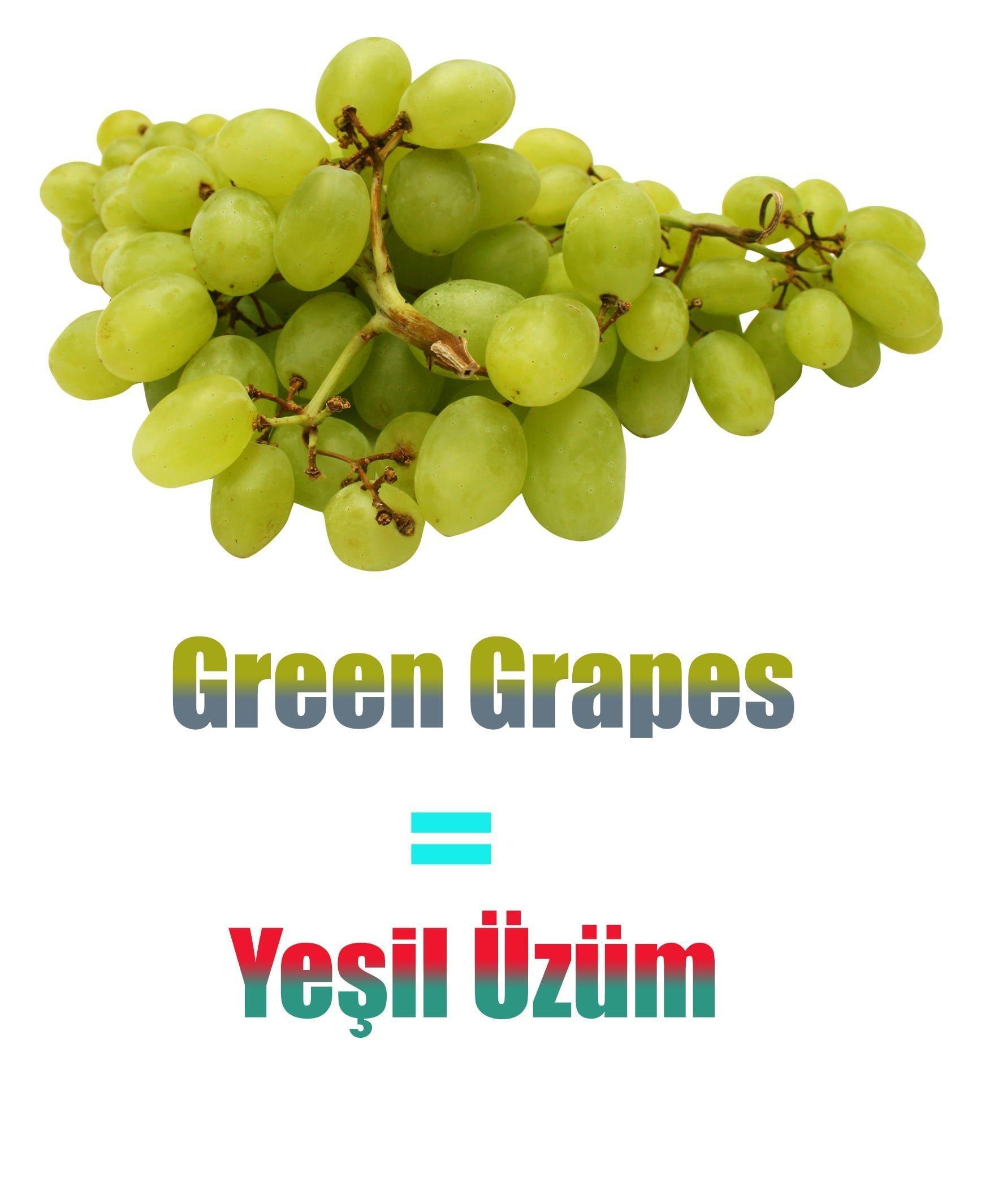 Yeşil Üzümün İngilizcesi (Green Grapes)