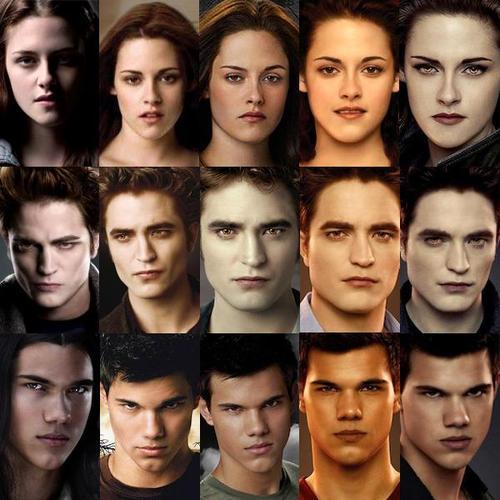 alacakaranlık filmi yüz modelleri